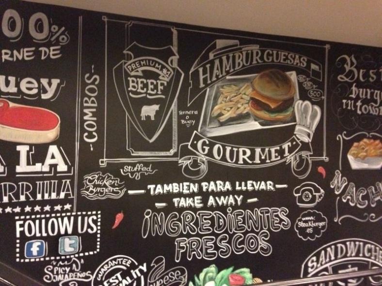 Las paredes de Steak Burger