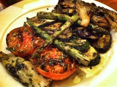 Guarnición de verduras asadas