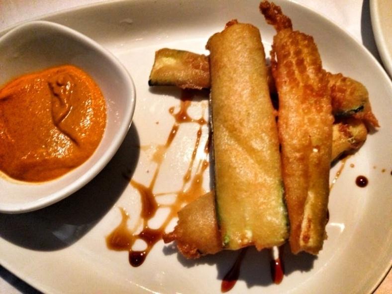 Calabacines fritos con miel