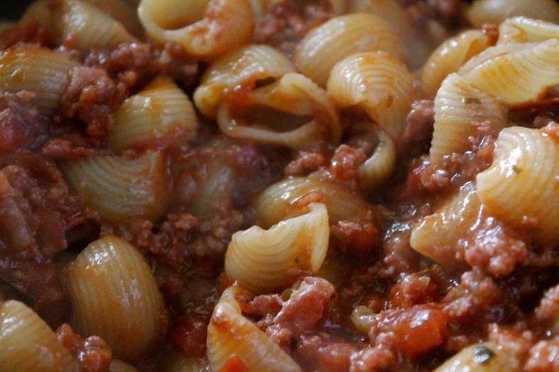 Importante juntar la pasta con la salsa