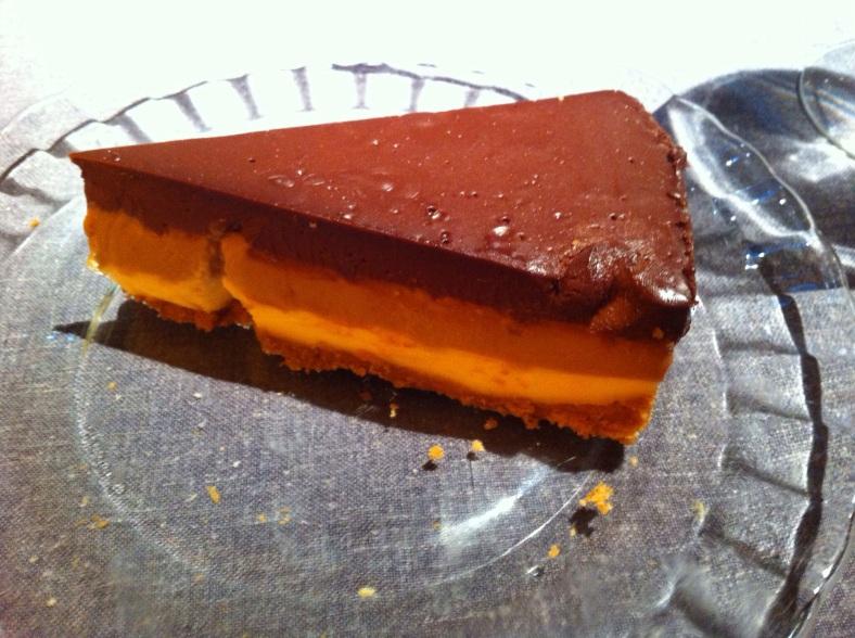 Mítica tarta de tres chocolates