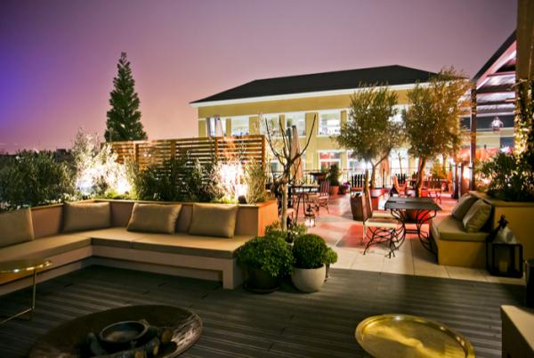 La zona lounge y de terraza