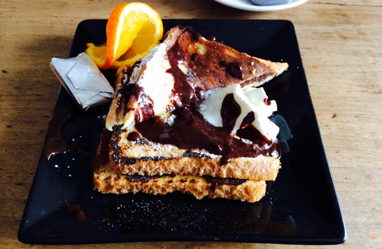 French toast con chocolate