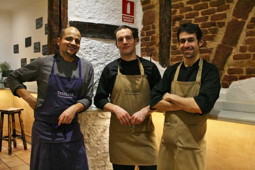 Los tres chefs de triciclo restaurante en Madrid