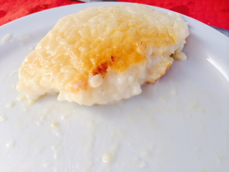 Un poquito de arroz con leche para terminar la comida