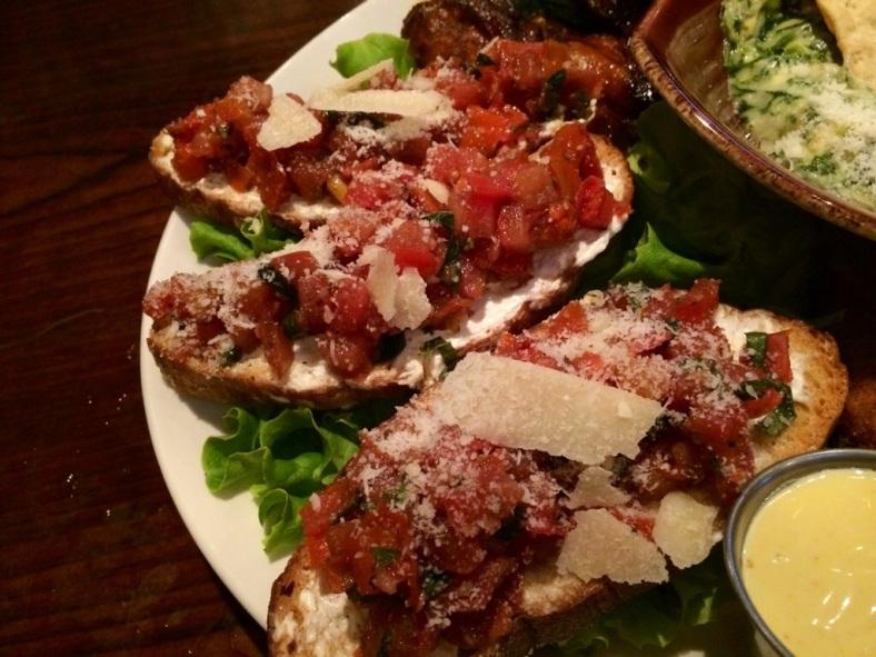 Balsamic tomato bruschetta