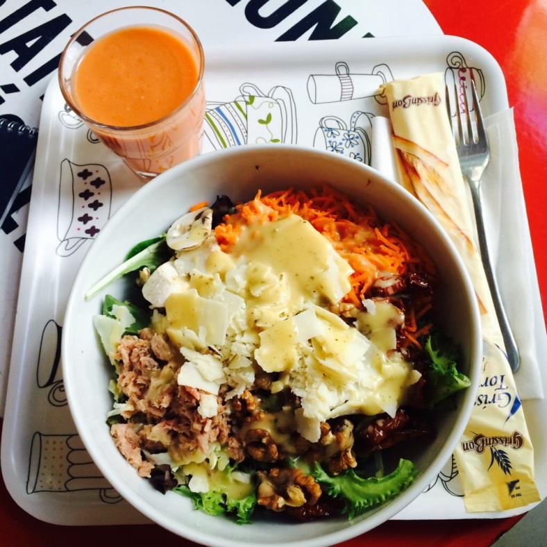 Ensalada y gazpacho de Petit Appetit