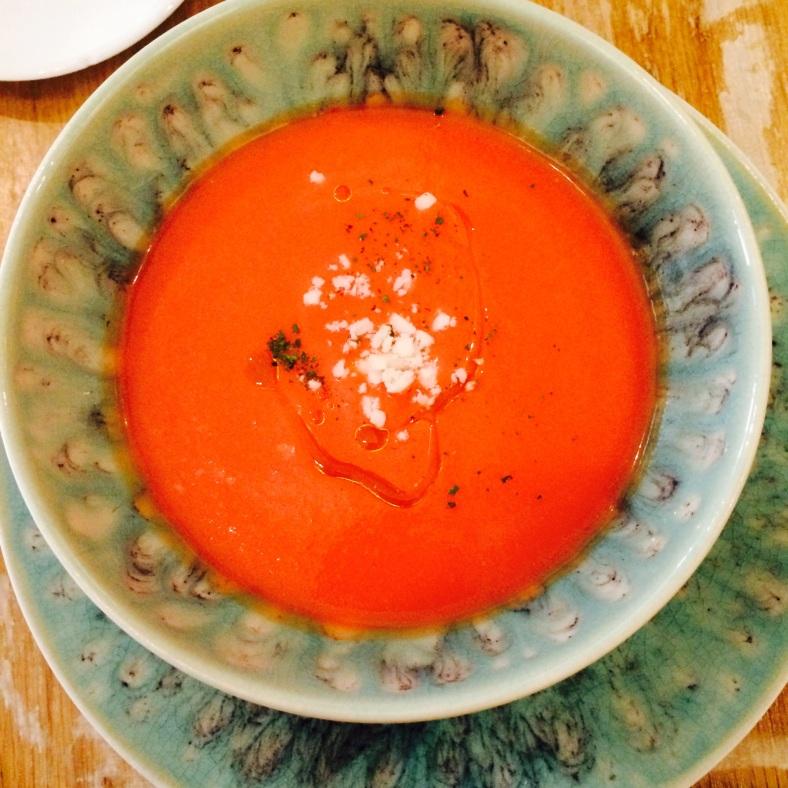 Salmorejo de papaya
