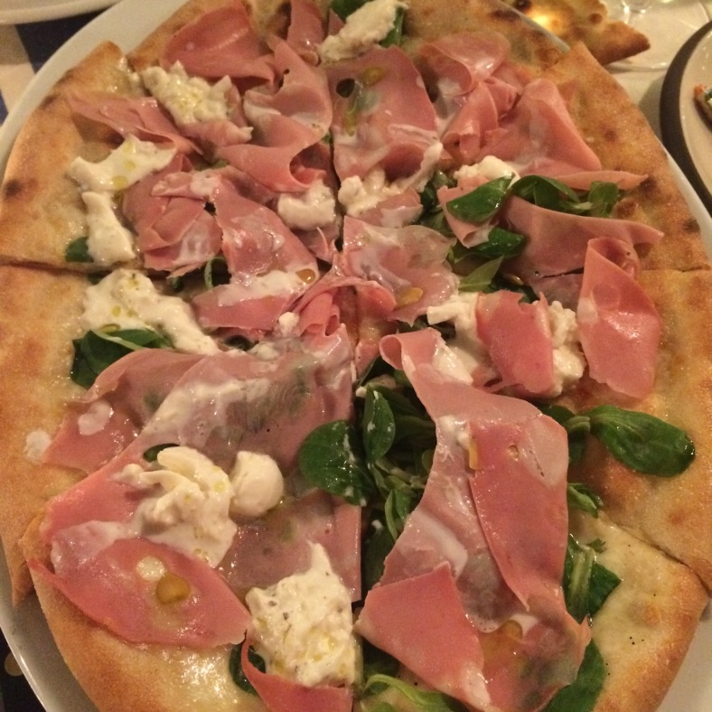 Pizza Mortadella e burrata