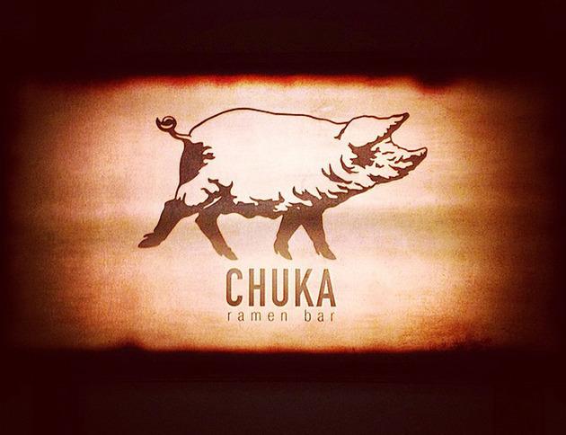 Un cerdo es el logo de Chuka Ramen Bar
