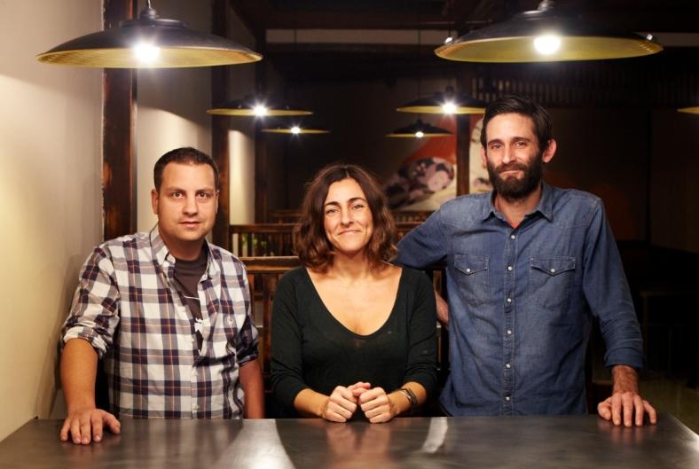 El equipo: Rodri, Lorena y John
