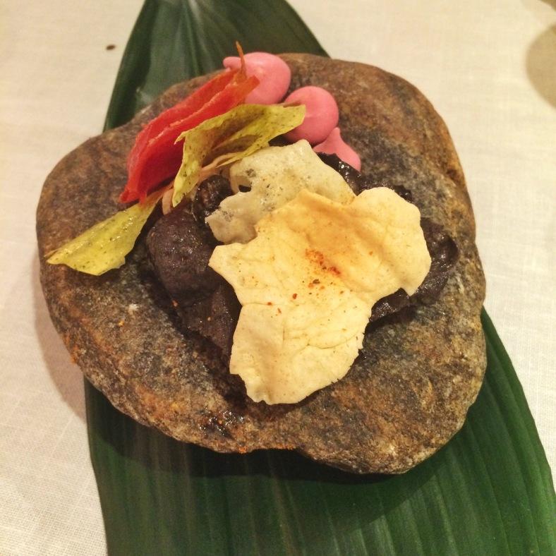 Snack de arroz y camarón