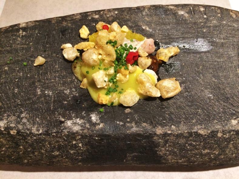 Kokotxas de merluza con salsa de callos
