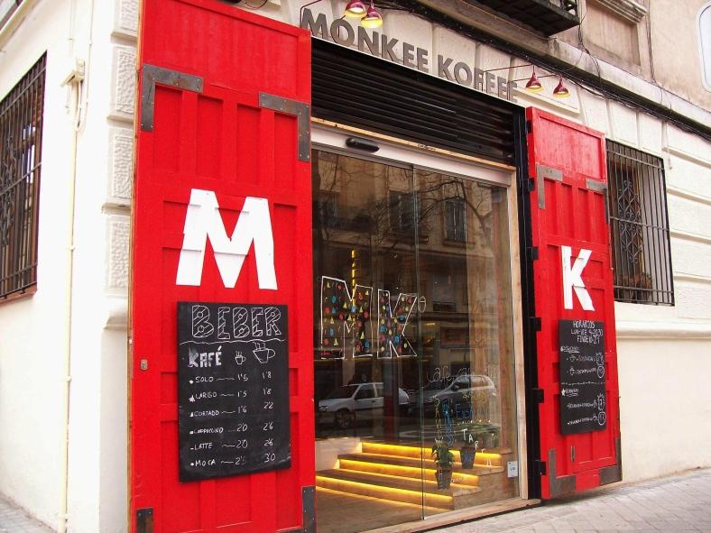 La fachada principal de Monkee Koffee