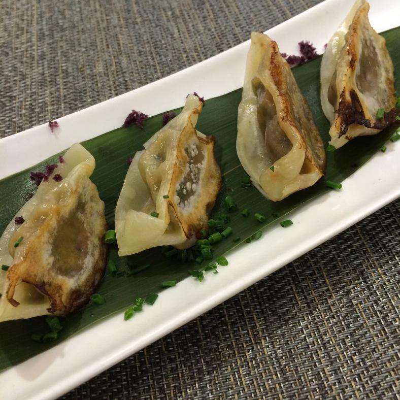 Gyozas de rabo de wagyu y las de carrillera de cerdo