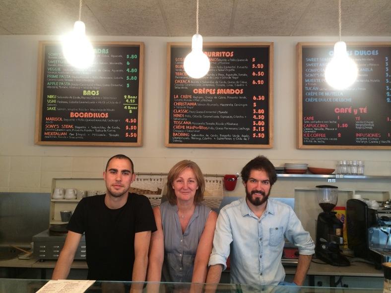 Sony, Nane y Miki los socios de Sony´s Food
