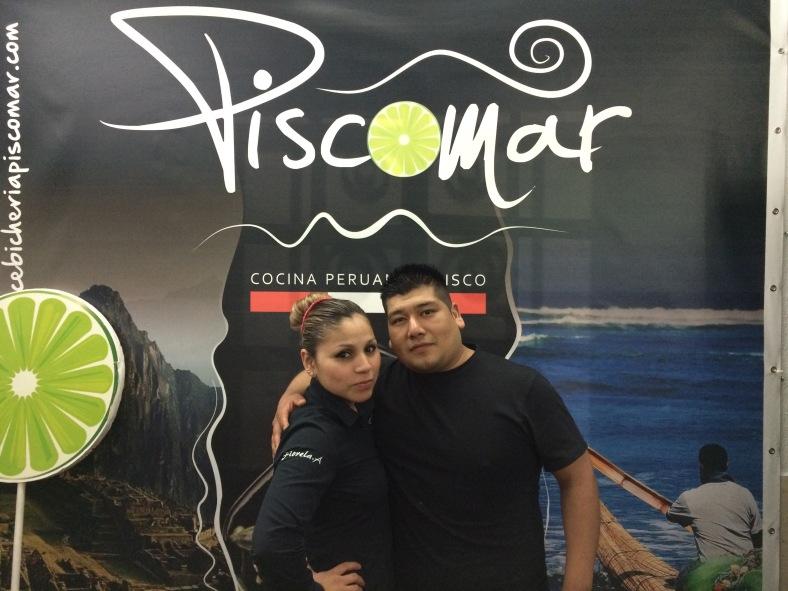 Jhosef Cristopher y Fiorella, los dueños de Piscomar