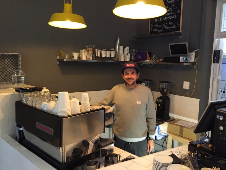 Guillermo Lasalle, dueño de Coffee and Kicks