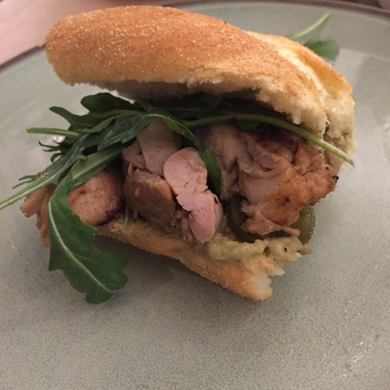 Guacachicken sandwich