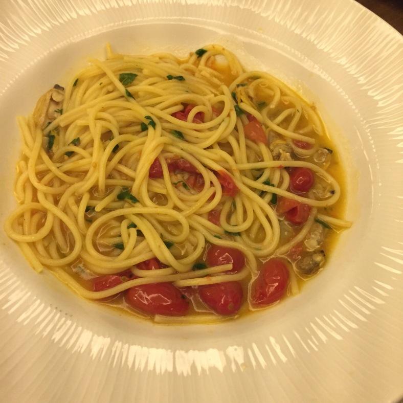 Espagueti al vongole