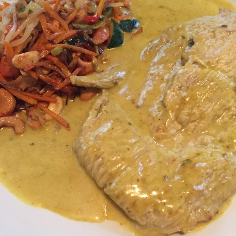 Curry schnitzel