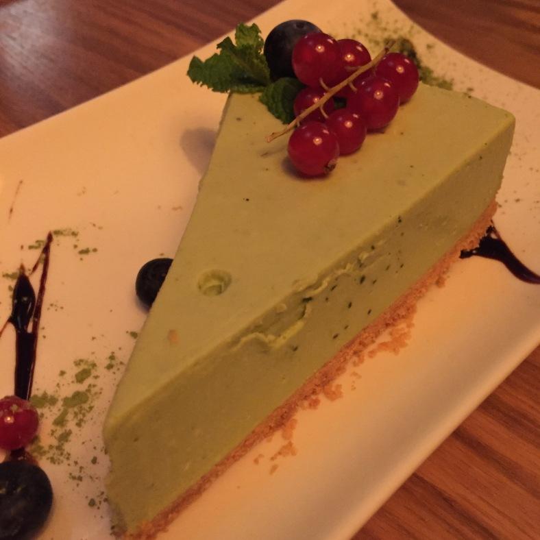 Tarta de queso al té verde
