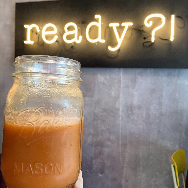 En Ready?! tienen una buena carta de zumos recién exprimidos